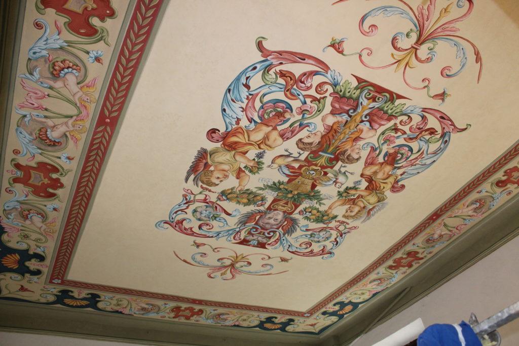 affresco digitale decorazione soffitto salone