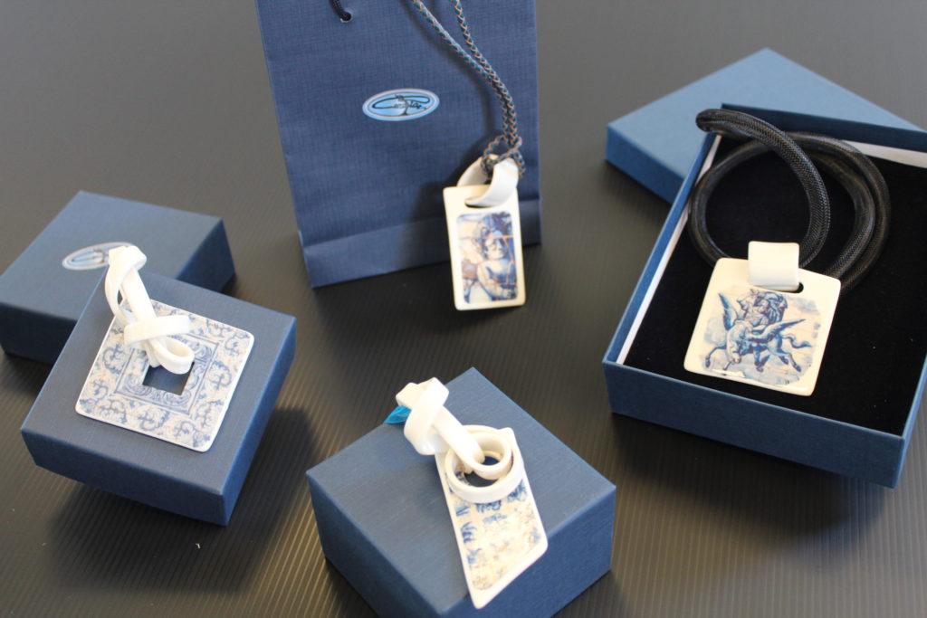 gioielli in porcellana a collana serie personalizabile